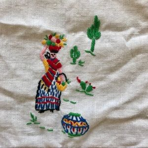 Vintage Mexican cloth from the 80s.